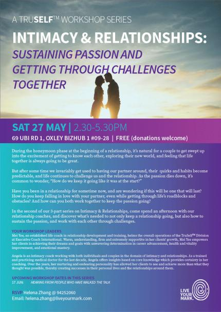 TruSelf Workshops: Sustaining Passion and Getting Through