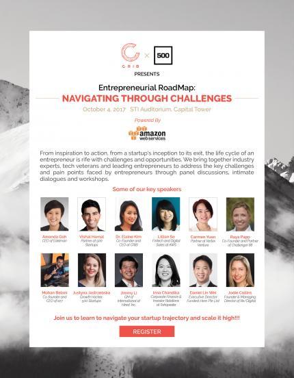 CRIB x 500 Startups presents Entrepreneurial Roadmap  Navigating