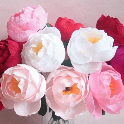 Crepe paper flower workshop simple peonies with miss petal bloom to view more paper creations please feel free to visit eileens website at misspetalandbloom mightylinksfo