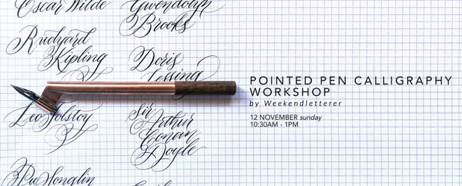 Pointed Pen Calligraphy Workshop Peatix