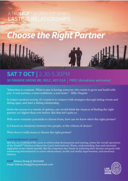Choosing the right partner for a lasting relationship
