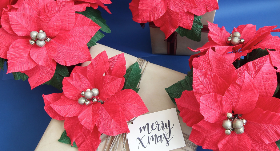 Crepe Paper Flower Workshop Christmas Poinsettias With Miss Petal
