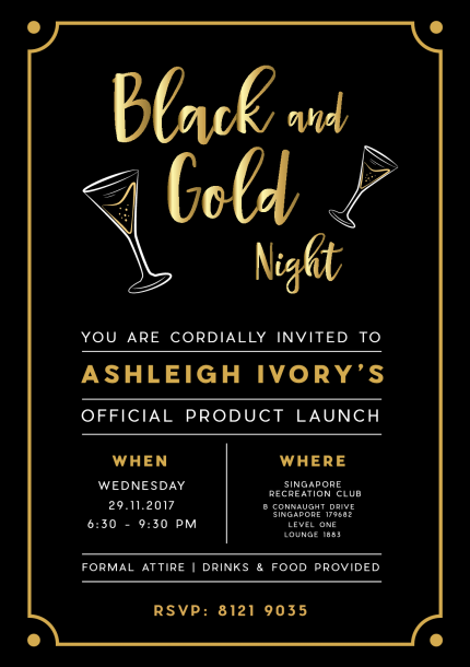 Black and Gold Night - Ashleigh Ivory Product Launch | Peatix